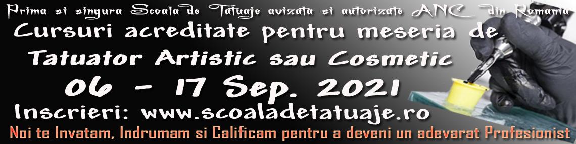 Curs Tatuaj Artistic Septembrie 2021