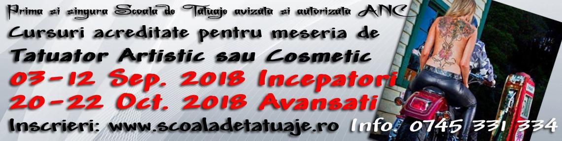 Cursuri Tatuaje Sep. , Oct.  2018